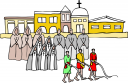 Community Building Clipart