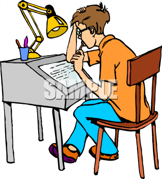 Royalty Free School Desk Clipart
