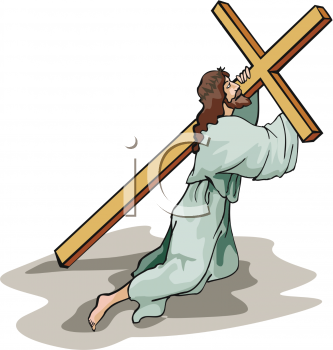 how to draw jesus carrying the cross