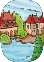 Village Architecture Clipart