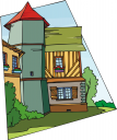 French Architecture Clipart