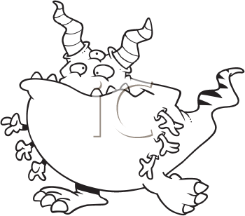 Royalty Free Halloween Monster Clipart