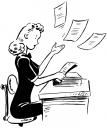 Receptionist Clipart