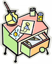 School Desk Clipart