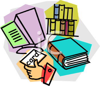 Royalty Free School Library Clipart