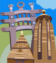 Indian Architecture Clipart