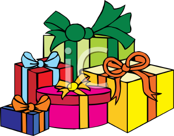 Royalty Free Christmas Presents Clipart