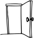 how to draw a door opening and slamming