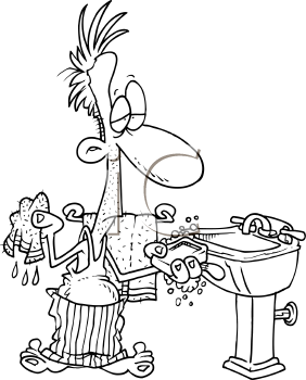 Bathroom on Royalty Free Clipart Of Cartoon