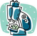 Royalty Free Microscope Clipart