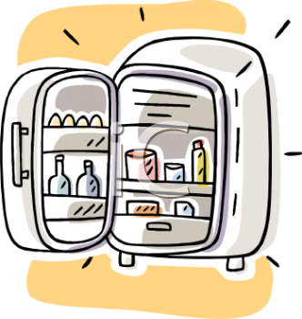 Royalty free clipart of refrigerator