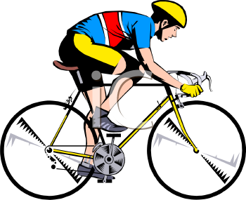 People Riding Bikes Clip Art