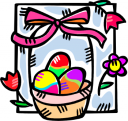 Easter Basket Clipart