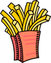 French Fries Clipart