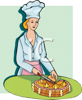 Cake Knife Clipart : Royalty Free Chef Clipart