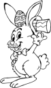 Black and White Easter Clipart
