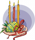 Easter Candles Clipart