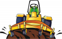Combine Harvester Clipart