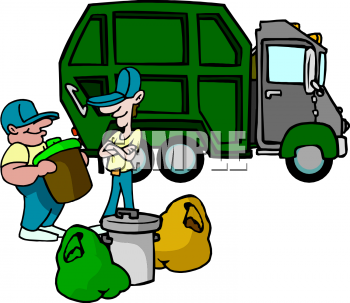 Garbage Truck Clip Art Black And White