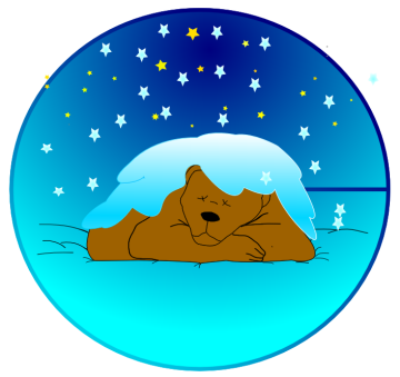 Free Hibernating Bear Clipart