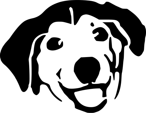 Clipart Service Dog And White Dog Clipart