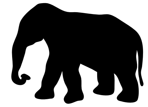 Free Elephant Silhouette Clipart