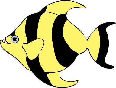 Free Striped Fish Clipart