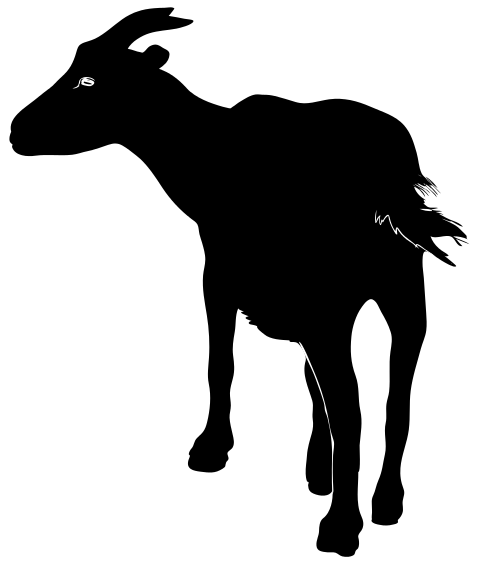 Free Goat silhouette Clipart