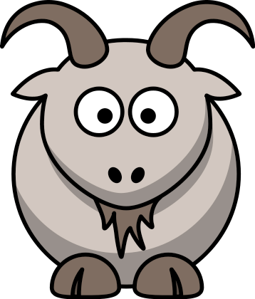 Free Cartoon Goat Clipart