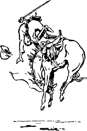 saddle bronc riding coloring pages - photo#15