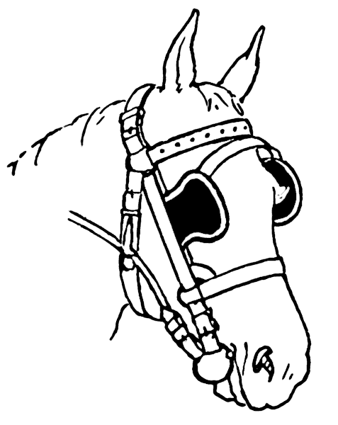 Free Harnessed Horse Clipart