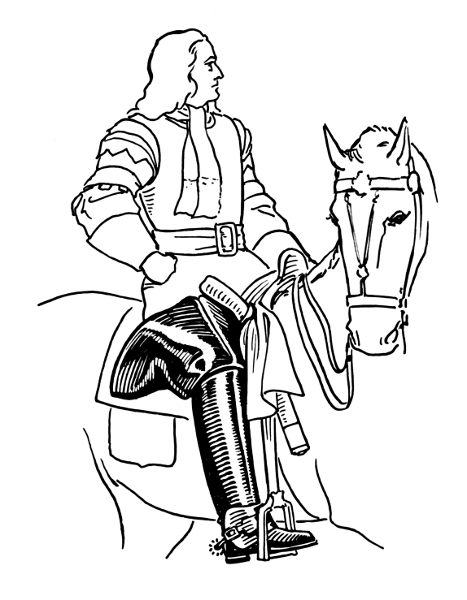 Free English Horse Rider Clipart