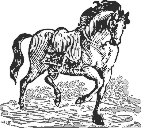Free Woodcut Horse Clipart