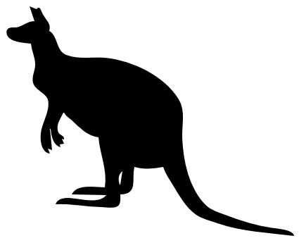 Search Terms: kangaroo, marsupial, roo, silhouette, silhouette of a ...