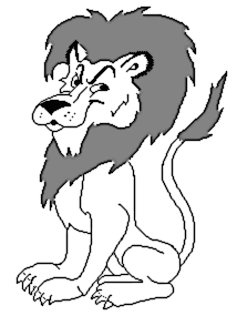 Free Lion Coloring Page Clipart