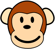 Free Brown Monkey Clipart