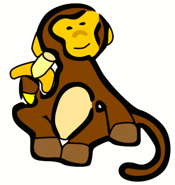 Free Monkey and Banana Clipart