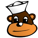 Free Sailors Monkey Clipart