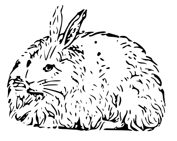 Free Black and White Rabbit Clipart