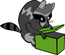 Free Raccoon Surprise Clipart