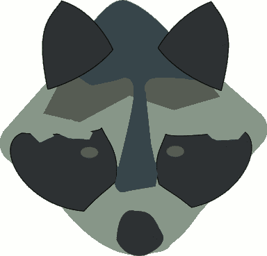 Free Raccoon Head Clipart