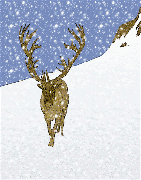 Free Reindeer Walking Clipart