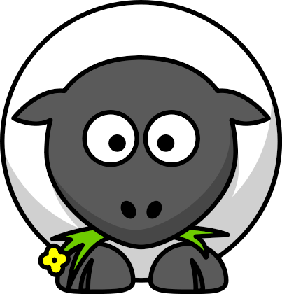 Free Cartoon Sheep Clipart