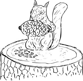 Free Wary Squirrel Clipart