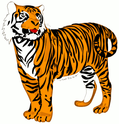 Free Proud Tiger Clipart