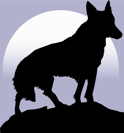 Free Wolf Silhouette Clipart
