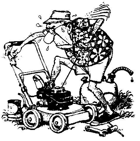 Lawn Mower Clipart Black And White Free black and white clipart
