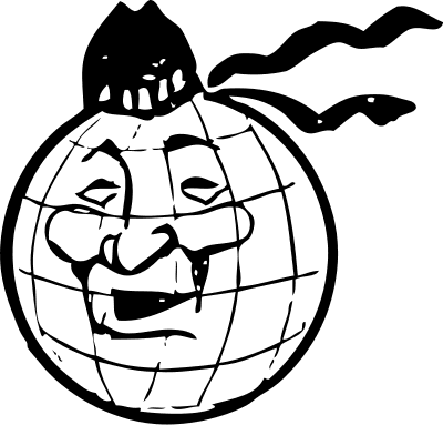 happy face cartoon pictures. silly face cartoon globe,