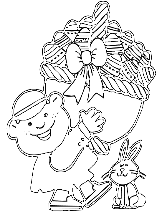 easter eggs clipart black and white. Free Black and White School