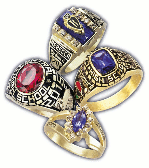 class school rings silver store sterling